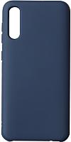 Чехол-накладка Volare Rosso Suede для Galaxy A50 2019 (синий) -