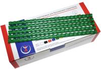 Пружины для переплета РеалИст Пластик 12мм (зеленый) -