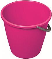 Ведро York Круглое 10л (розовый) -
