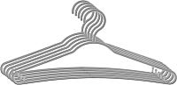 Набор вешалок-плечиков York Стандарт 5шт (серый) -