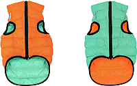 Куртка для животных AiryVest Lumi 2143 (XS, оранжевый/салатовый) -
