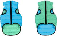 Куртка для животных AiryVest Lumi 2249 (XS, салатовый/голубой) -
