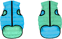 Куртка для животных AiryVest Lumi 2144 (XS, салатовый/голубой) -