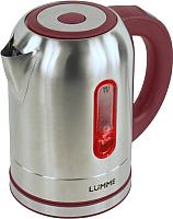 Электрочайник Lumme LU-211 (металлик/бургунди) -
