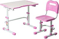 Парта+стул FunDesk Vivo II (розовый) -