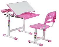 Парта+стул FunDesk Cantare (розовый) -