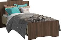 Односпальная кровать Мебель-КМК 900 Атланта 0741.17 (ясень шимо светлый/ясень шимо темный) -