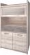 Шкаф с витриной Anrex Jazz 1V2D1S (каштан найроби/оникс) -
