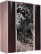 Шкаф Мебель-КМК Магия 1 0652 (дуб шамони светлый/каштан) -