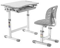 Парта+стул Растущая мебель Elfin B201S (серый) -
