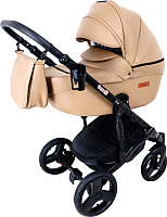 Детская универсальная коляска Ray Corsa Eco 2 в 1 (22, темно-бежевая кожа) -