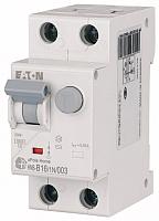 Дифференциальный автомат Eaton HNB-B16/1N/003 1P+N 16А В 6кА 30мА АС 2М / 195121 -
