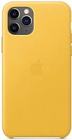 Чехол-накладка Apple Leather Case для iPhone 11 Pro Meyer Lemon / MWYA2 -