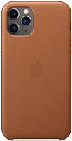 Чехол-накладка Apple Leather Case для iPhone 11 Pro Saddle Brown / MWYD2 -
