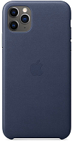 Чехол-накладка Apple Leather Case для iPhone 11 Pro Max Midnight Blue / MX0G2 -