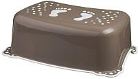 Табурет-подставка Maltex Классик / 7309 (темно-коричневый/серый) -