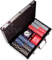 Набор для покера No Brand B-1 (в чемодане, 300 фишек) -