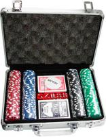 Набор для покера No Brand S-1 (в чемодане, 200 фишек) -
