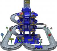 Паркинг Полесье 4-уровневый с дорогой и автомобилями / 44716 (синий, в коробке) -