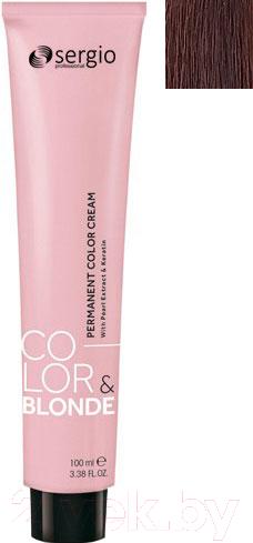 Купить Крем-краска для волос Sergio Professional, Color&Blonde 6.3 (темно-русый золотистый), Италия, шатен