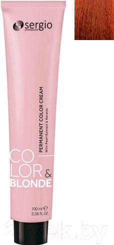Купить Крем-краска для волос Sergio Professional, Color&Blonde 8.4 (блондин медный), Италия, рыжий
