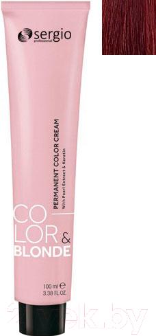 Купить Крем-краска для волос Sergio Professional, Color&Blonde 7.66 (средне-русый красный интенсивный), Италия, шатен