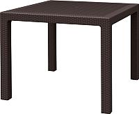 Стол садовый Keter Melody Quartet 95 / 230675 (коричневый) -