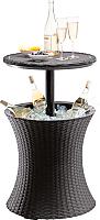 Стол коктейльный Keter Cool Bar Rattan / 230902 (коричневый) -