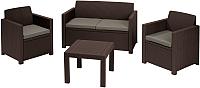 Комплект садовой мебели Keter Alabama Set / 213967 (коричневый) -