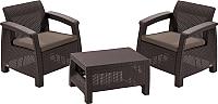 Комплект садовой мебели Keter Corfu Weekend Set / 223235 (коричневый) -