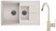 Мойка кухонная Granula GR-7802 + смеситель 35-05 (пирит) -