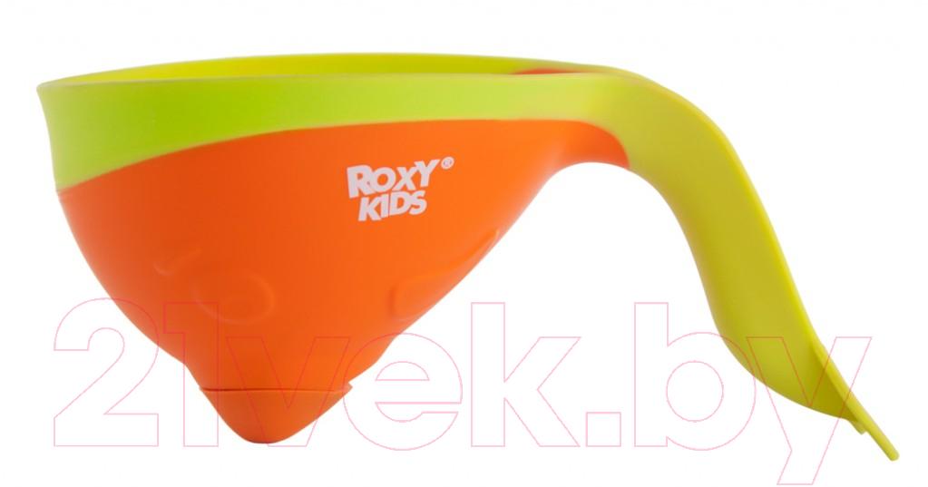 Купить Ковшик для купания Roxy-Kids, Flipper RBS-004-O с лейкой (оранжевый), Китай