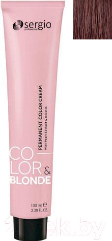 Купить Крем-краска для волос Sergio Professional, Color&Blonde 7.003 (средне-русый натур. карамельный), Италия, шатен