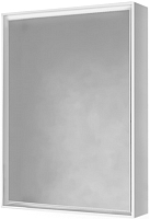 Шкаф с зеркалом для ванной Raval Frame 60 / Fra.03.60/W (с подсветкой и розеткой) -