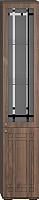 Шкаф-пенал с витриной Мебель-КМК Шарм 1 0722.10 правый (орех донской/орех экко классический) -