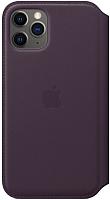 Чехол-книжка Apple Leather Folio для iPhone 11 Pro Aubergine / MX072 -
