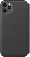Чехол-книжка Apple Leather Folio для iPhone 11 Pro Max Black / MX082 -