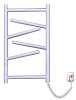 Полотенцесушитель электрический Элна Элна-6 Торцевой 64x43.5 (белый) -
