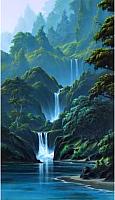 Набор алмазной вышивки Wizardi Каскад водопадов / WD314 -