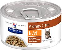 Корм для кошек Hill's Prescription Diet Kidney Care k/d / 603879 (82г) -