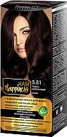 Крем-краска для волос Белита-М Hair Happiness стойкая тон № 5.81 (темно-коричневый) -