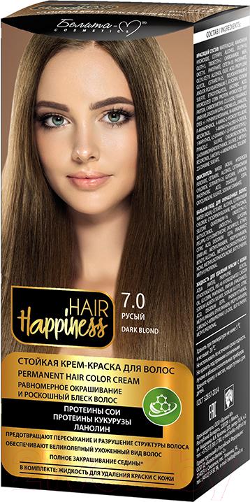 Купить Крем-краска для волос Белита-М, Hair Happiness стойкая тон № 7.0 (русый), Беларусь