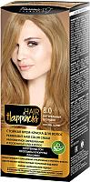 Крем-краска для волос Белита-М Hair Happiness стойкая тон № 8.0 (натуральный блондин) -