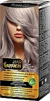 Крем-краска для волос Белита-М Hair Happiness стойкая тон № 9.1 (светлый пепельный блондин) -