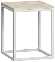 Журнальный столик Loftyhome Бервин 3 / BR020304 (натуральный с белым основанием) -
