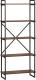 Стеллаж Loftyhome Бервин 4 / BR010401 (коричневый) -