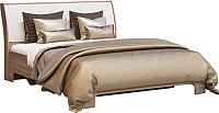 Двуспальная кровать Мебель-КМК 1600-01 0685.1 (дуб сонома/Vegas White) -