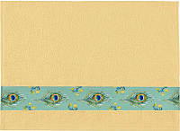 Полотенце Aquarelle Фотобордюр Павлин-1 70x140 (желтый) -