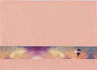 Полотенце Aquarelle Фотобордюр Путешествия 70x140 (розово-персиковый) -