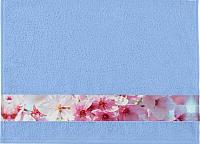 Полотенце Aquarelle Фотобордюр Цветы-1 70x140 (светло-васильковый) -